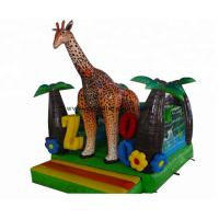 Buy cheap Backyard Inflatable Jumping Castles , Commercial Inflatable Giraffe Combo from wholesalers