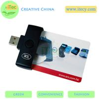 Buy cheap portable Smart ID card reader ISO7816 PC/SC protocol Java Sim card reader  PC/SC protocol from wholesalers