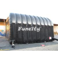 Buy cheap Black Inflatable Tunnel Tent Facet / Marquee Tent In Sewing Technology from wholesalers
