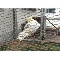 Buy cheap Stainless Steel Bird Aviary Wire Mesh 7*7 7*19 With Good Perspective product
