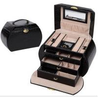 Wholesale Beautiful PU Makeup Storage Box Vanity Mirrored Portable Jewelry Case Ring Holder from china suppliers