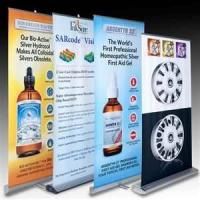 Buy cheap Portable Retractable 150gPVC Roll UP Aluminium Alloy outdoor Banner Stand For Display from wholesalers