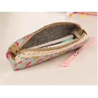 Buy cheap Pencil wrap pencil case blue with lace from wholesalers