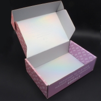 Buy cheap Customised printing pink holographic shipping mailing box custom private label with logo from wholesalers