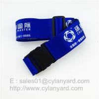 Buy cheap Polyester Luggage Belt straps, Suitcase Belt With Plastic Buckle And Adjustable Clips from wholesalers