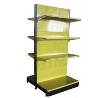 Buy cheap Yellow Double Sided Gondola Shelving   ,  Pegboard Grocery Display Racks 4 Levels from wholesalers