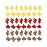 Buy cheap Maple Leaft Colorful Glitter Stickers For Holiday Decoration Cheap Custom Cost from wholesalers