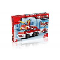 Quality Mini Fire Rescue DIY Building Blocks Educational Toys Convertable 3 Styles 220Pcs for sale