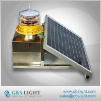 Buy cheap FAA ICAO Standard Medium Intensity Type B Solar Aviation Obstruction Lights For Towers/ High Buildings from wholesalers