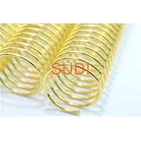Buy cheap Electroplate Gold Diameter 2mm 0.7mm Wire O Book Binding from wholesalers