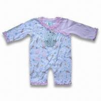 Buy cheap Baby Romper with Elephant Design, Mafe of 100% Cotton Interlock, 220g/m from wholesalers