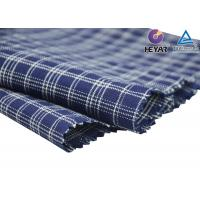Buy cheap Chinese Custom Made 100% Combed Cotton Indigo Yarn Dyed Checks Indigo Shirt or Hometextile Fabric and Textile Wholesale from wholesalers