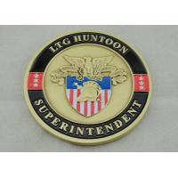Zinc Alloy Personalized Coins Antique Gold Plating For Awards