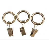 China Iron curtain pole rings with clips on sale
