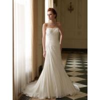 Quality China Wedding Dress /Strapless Beading Chiffon Bridal Wedding Dresses Gown for sale
