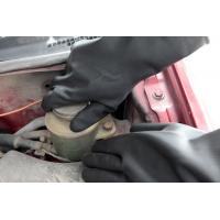 Natural latex Industrial work latex glove , Outside black inside orange Manufactures