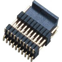 Buy cheap PCB Board Male 1.27*2.54mm Pin Header Connector Dual Row Double Plastic SMT  PA9T  Brass H=2.54 product