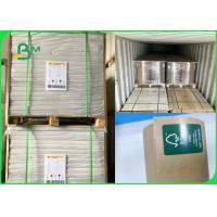 Buy cheap 32 and 24 grams oil resistance MG brown kraft paper roll for fast food packing from wholesalers