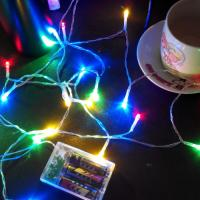 Buy cheap 2M 20LED 3*AA battery operated christmas lights LED string lights more color good material from wholesalers