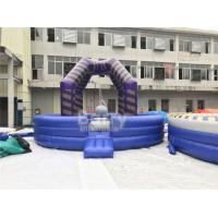 Buy cheap Last Man Standing Inflatable Interactive Games , Purple Outdoor Playground Equipment Wrecking Ball Game from wholesalers