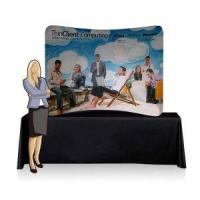 Buy cheap 7.5ft Table Top Curved Fabric Display Wall (Graphics Included) (SIC-EDF-C-32) from wholesalers