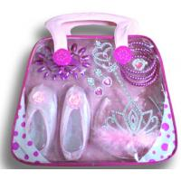 Buy cheap Princess set for little girls with pink ballet shoes, nailplate,crown from wholesalers
