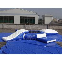 Buy cheap Commercial Inflatable Water Trampoline Combo PVC White Blue Water Trampoline With Slide For Sales from wholesalers