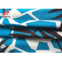 Buy cheap Waterproof Breathable Polyester Spandex Fabric / Printed Lycra Fabric For Swimwear from wholesalers