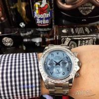 Buy cheap Perfect Replica Rolex Daytona Stainless Steel Diamond Bezel Ice Blue Dial 43mm Watch from wholesalers