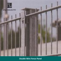 Buy cheap Farm Galvanised Wire Mesh Panels , Double Rod Weld Mesh Fencing Panels from wholesalers