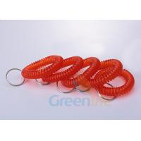 Buy cheap Stetchable Red Colour Plastic Wrist Coil Key Retainer With Key Ring Light - Weight from wholesalers