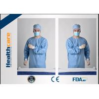 Buy cheap Blue Disposable Surgical GownsSterile Reinforced Knitted Wrists Gowns ISO CE FDA Approved from wholesalers