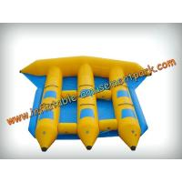 Buy cheap Funny 6 Persons Yellow Inflatable Boat Toys 0.9mm Pvc Tarpaulin from wholesalers
