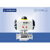 Buy cheap Horizontal straight way Pnuematic  ball valve with thread Connection from wholesalers