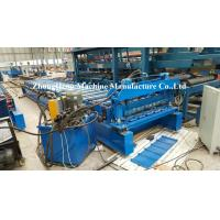 Buy cheap Metal Roofing Tile Roll Forming Machine With Adjustable Feeding Table And Precutter from wholesalers