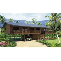 Buy cheap Holiday Living Home Beach Bungalows , Wooden Bungalow With Light Steel Frame from wholesalers