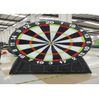 Buy cheap Commercial Inflatable Sports Games Inflatable Football Dart Board 0.55mm Pvc Tarpaulin from wholesalers