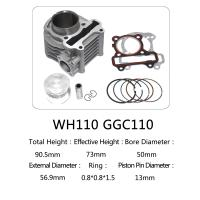 Buy cheap WH110 85mm Total Height Motorcycle Cylinder Kit , 110cc Cylinder Repair Kit from wholesalers