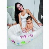 Buy cheap Inflatable Baby Bathtub, Made of PVC, Low Lead and Phthalate-free from wholesalers