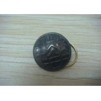 Buy cheap Button Shape Promotional Keychain by Brass Stamping with Man - Woman Mould, Dyed Black Plating from wholesalers