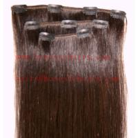 Buy cheap 100% REMY hair extension, Clips in hair extension 8-34 in length,color can be selected. from wholesalers