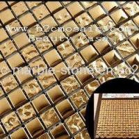 Wholesale Gold Electric Plating Mosaic Tiles, 15*15*8mm from china suppliers