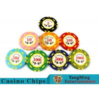 Wholesale Texas Hold'em / Metal Poker Chips For Casino Gaming With Numbers Casino Chips from china suppliers