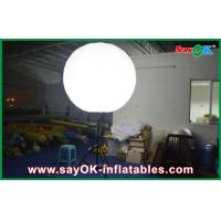 Buy cheap Stand White Inflatable Lighting Decoration Air Balloons For Advertising Of Business from wholesalers