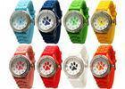 Buy cheap Paw Print Silicone Gel Rubber Band Crystal Bezel Women' s Watch Stainless Steel Back from wholesalers