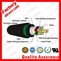 Buy cheap outdoor fiber optic cable gyfta53 multi cores 9/125 Black PSP armored underground direct buried coaxial fibre optical from wholesalers