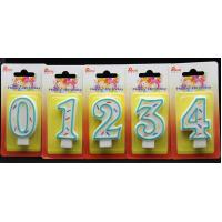 Wholesale Best Selling-Factory Handmade number candle with the Green Edge AND 3 colors line painted from china suppliers