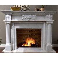 China White Marble Fireplace Mantel on sale