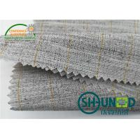 Wholesale Heavyweight Garment Stretched Cotton Canvas Fabric / Horsehair Interlining For Suit from china suppliers