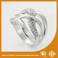 Wholesale Trendy Zinc Alloy Fashion Jewelry Rings Ladies Silver Finger Rings from china suppliers